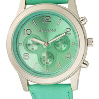 boyfriend watch with faux leather strap