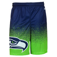 Seattle Seahawks Official NFL Gradient Polyester Shorts