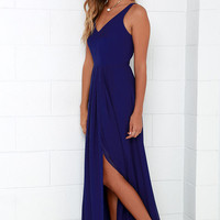 Show of Decorum Royal Blue Maxi Dress