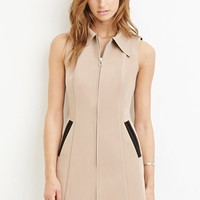 Collared Zip-Front Dress