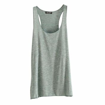 Women Camis Harajuku Fitness Tank Top Fashion Loose Model O-neck Slim T-shirt Tops 12 Colors