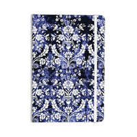 "KESS Original ""Baroque Blue Velvet"" Abstract Floral Everything Notebook"