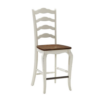 Home Styles Furniture 5518-88 The French Countryside Oak and White Oak and Rubbed White 46-Inch Counter Stool