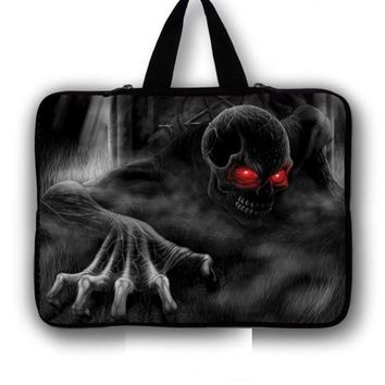 Skull Laptop Bag 7 10 12 13 14 15 17 inch Notebook sleeve tablet protective case
