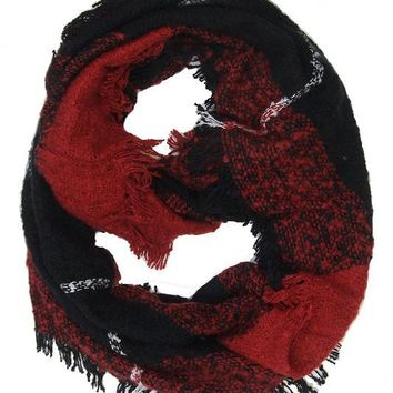 Warm Front Red Plaid Scarf