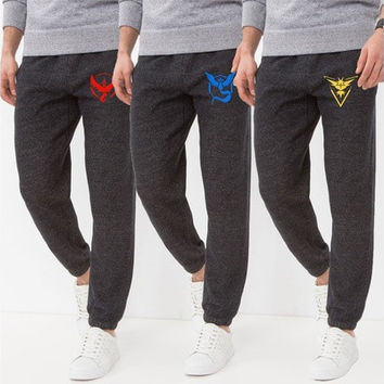 Pokemon Go Team Instinct, Mystic,Valor Fashion Women Men's Jogger Dance Sportwear Baggy Casual Long Pants Trousers Sweatpants Dulcet Cool Gary S M L XL XXL [8833929676]