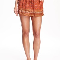 Lightweight Drawstring Shorts for Women | Old Navy