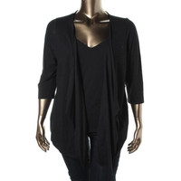 Jessica Simpson Womens Plus Knit Open Front Cardigan Top