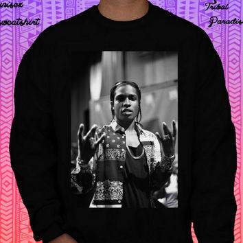 ASAP Rocky sweatshirt by TribalParadise on Etsy