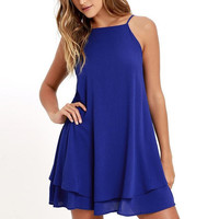 Chiffon Party Mini Sun Dress
