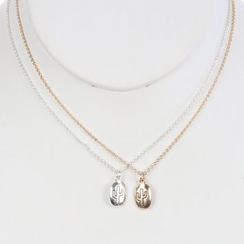 Cactus Necklaces 2 Pieces - Share with a Bestie