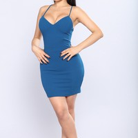 Elaina Mini Dress  - Teal