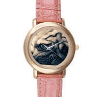 Custom Pug Dog Watches Pink Leather Alloy High-grade Watch LWT-0160