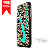 Nike Leopard Pattern Tiffanny Blue Logo Colours KK iPhone 6 Case
