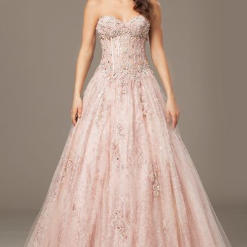 Pink Strapless Ballgown 25602 - Evening Dresses