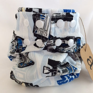 Arabella Designs Star Wars Ultimate Edition Cloth Diaper. Soft cotton outer with hidden PUL and soft, stay-dry wicking inner layer.