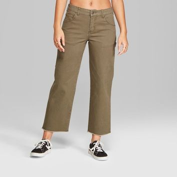 Women's Straight Leg Carpenter Pants - Wild Fable™ Olive