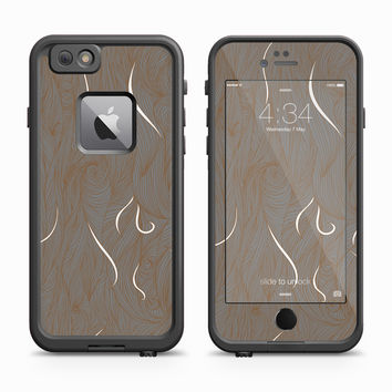 Brown Wood Grain Paisley Tails Skin for the Apple iPhone LifeProof Fre Case