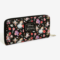 Loungefly Disney Alice In Wonderland Alice & Friends Floral Zip Wallet - BoxLunch Exclusive