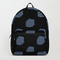 Blue Rose Backpack by drawingsbylam