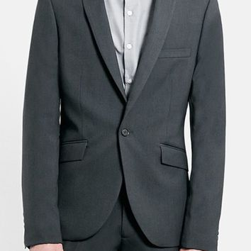 Men's Topman Skinny Fit Grey Suit Jacket