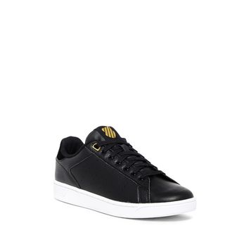 K-Swiss Women's Clean Court CMF Black-Gold Sneaker