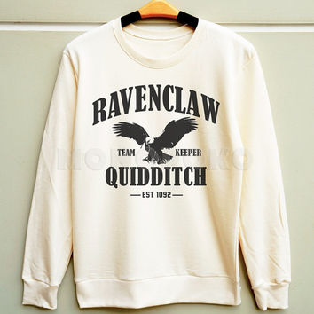S M L -- Ravenclaw Quidditch Shirts Harry Potter Quidditch Sweatshirt Jumpers Long Sleeve Sweater Unisex TShirts Women TShirts Men TShirts