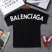 """Balenciaga"" Summer Women Men Casual Fashion Letter Logo Print Short Sleeve T-shirt Top Tee Black"
