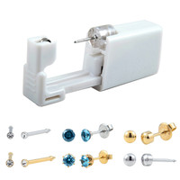 24pcs Pack Disposable Easier Safe Sterile Ear Piercing Units Jewelry Stud Earring Piercing Gun Kit