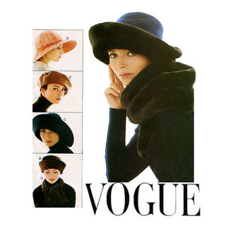 1990s HAT PATTERN Floppy Wide Brim Hat Beret Cloche Facinators Vogue 9082 Patricia Underwood Accessories Craft Women's Sewing Patterns UNCuT