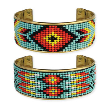 Southwest Beaded Cuff Bracelet