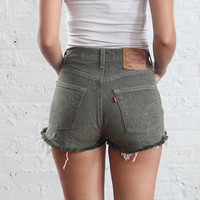 levis cut off jeans denim shorts (xs-s)