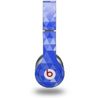 Triangle Mosaic Blue Decal Style Skin - fits genuine Beats Solo HD Headphones (HEADPHONES NOT INCLUDED)