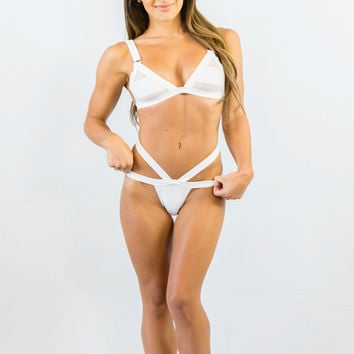 Sweet Disposition Bikini Set White