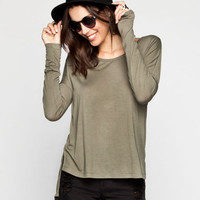 Rvca Dusk Until Dawn Womens Tee Olive  In Sizes