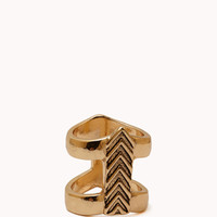 Caged Chevron Ring