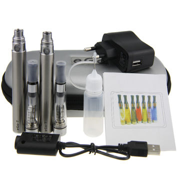 Double eGo CE4 Starter Kit E Cigarette 650 900 1100mAh eGo t battery 1.6ml CE4 Clearomizer E Cig Set Zipper Case Kit 12 Colors