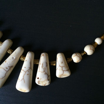Ivory or Turquoise Stone Necklace