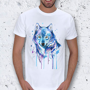 Black Friday Watercolor Wolf Men T-Shirt / Special Production (Limited Edition)