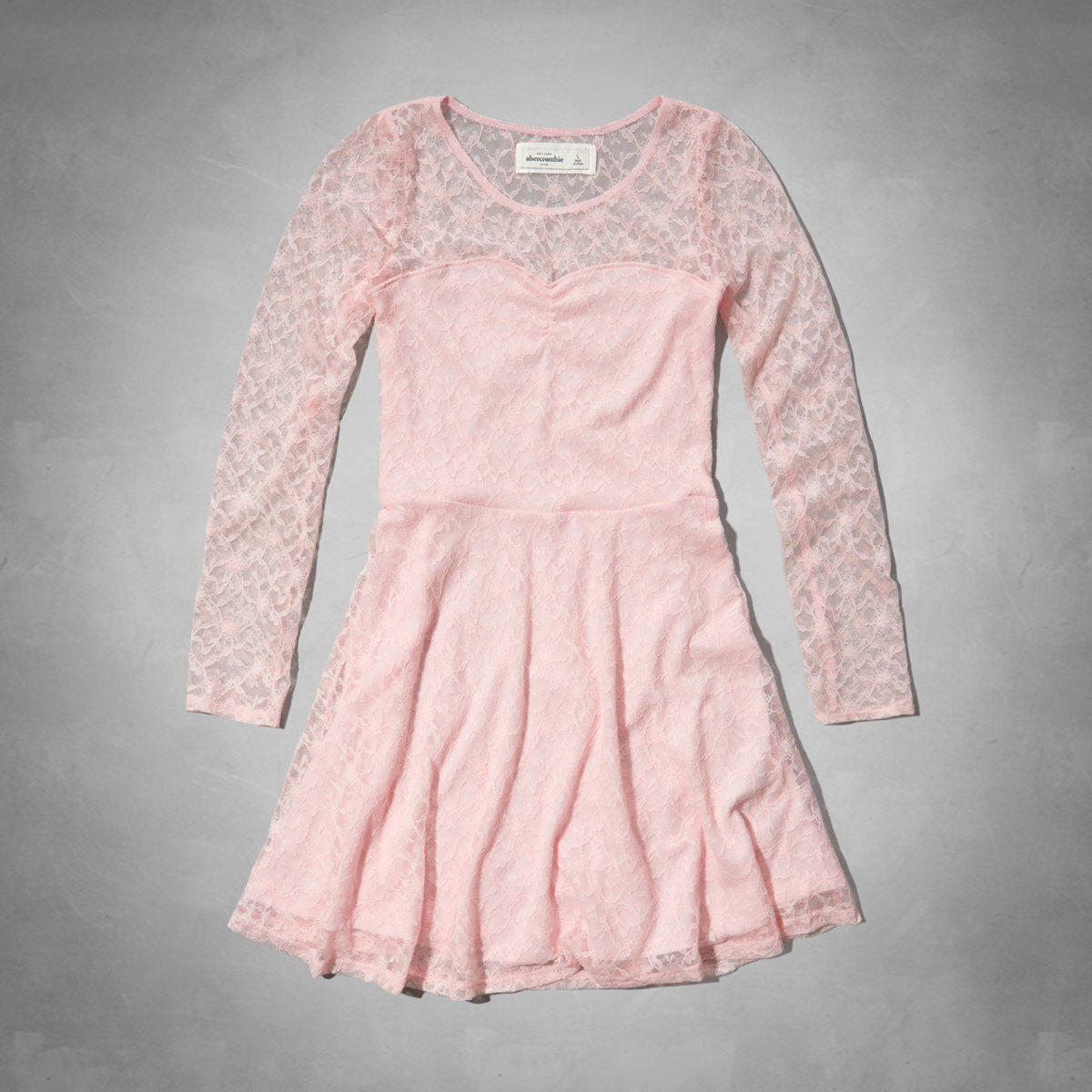 long sleeve lace skater dress from Abercrombie Kids 478aa7866