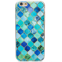 Retro Patchwork Marble Grain iPhone 5s 6 6s Plus Case Gift-129