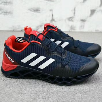 ADIDAS Men Running Sport Casual Shoes Sneakers Navy blue+Red G-A0-HXYDXPF