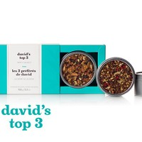 David's Top 3 - Gift Tea Box With Our 3 Top Selling Teas: Coco Chai Rooibos, Read My Lips And Forever Nuts   DavidsTea