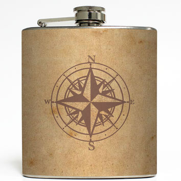 Which Way's North? - Compass Flask