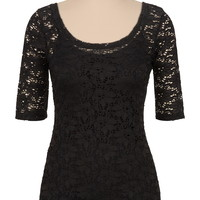 Elbow Sleeve Lace Tee