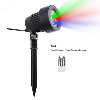 Christmas Laser Projector Stars Red Green Blue Showers lights Outdoor Waterproof IP65 Garden Decoration Static Twinkle  remote
