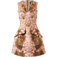 MCQ Floral Printed Structured Grosgrain Dress
