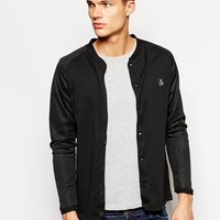 Jack & Jones Bomber Jacket With Mesh Raglan Sleeves