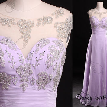 Lilac rhinestones beading prom dresses,prom dress,long prom dress,bridesmaid dresses,evening dresses,bridesmaid dress,evening dress