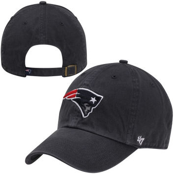 47 Brand New England Patriots Big Sizes Cleanup Adjustable Hat - Navy Blue
